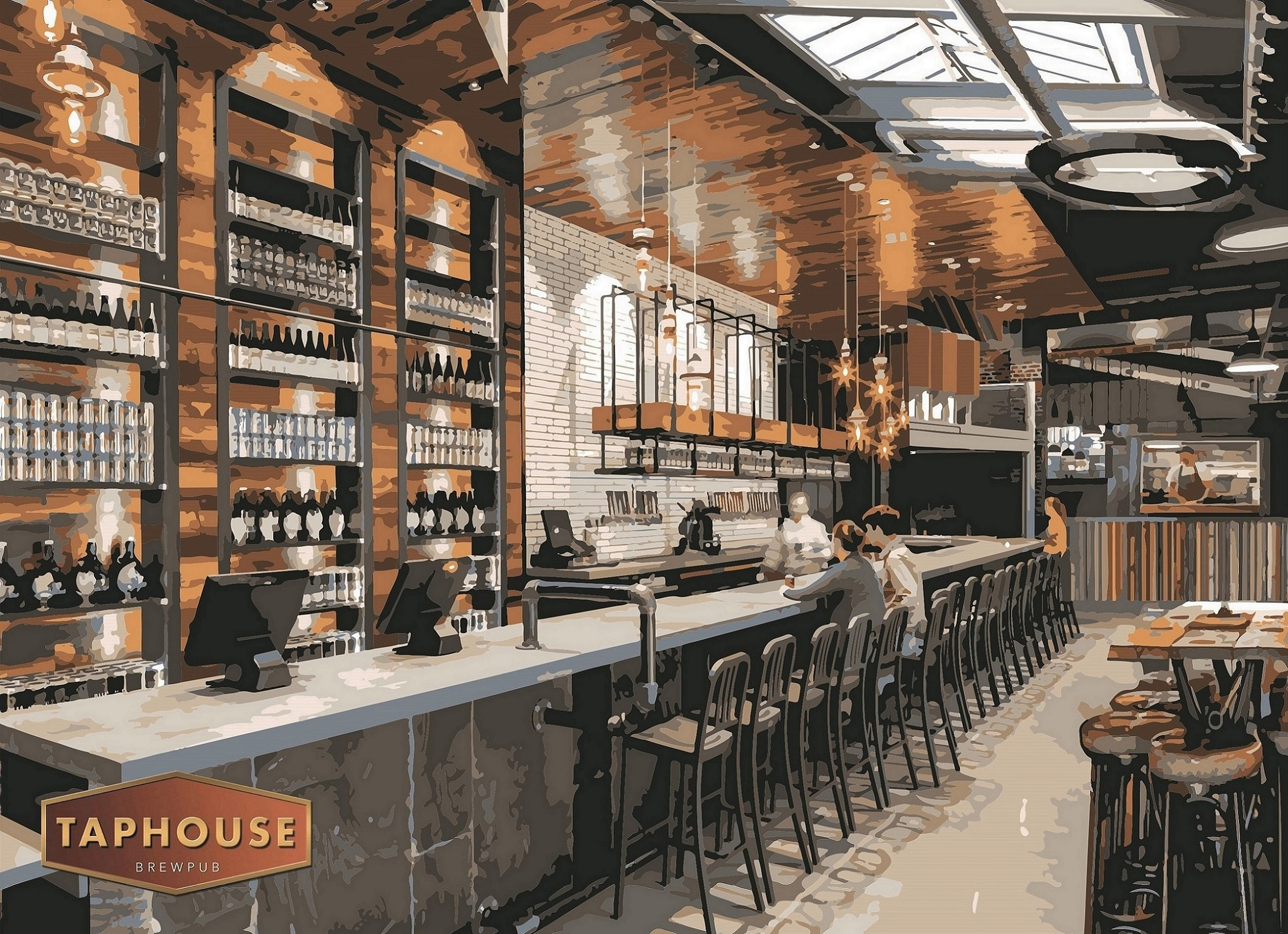 Taphouse Brewpub bar CGI