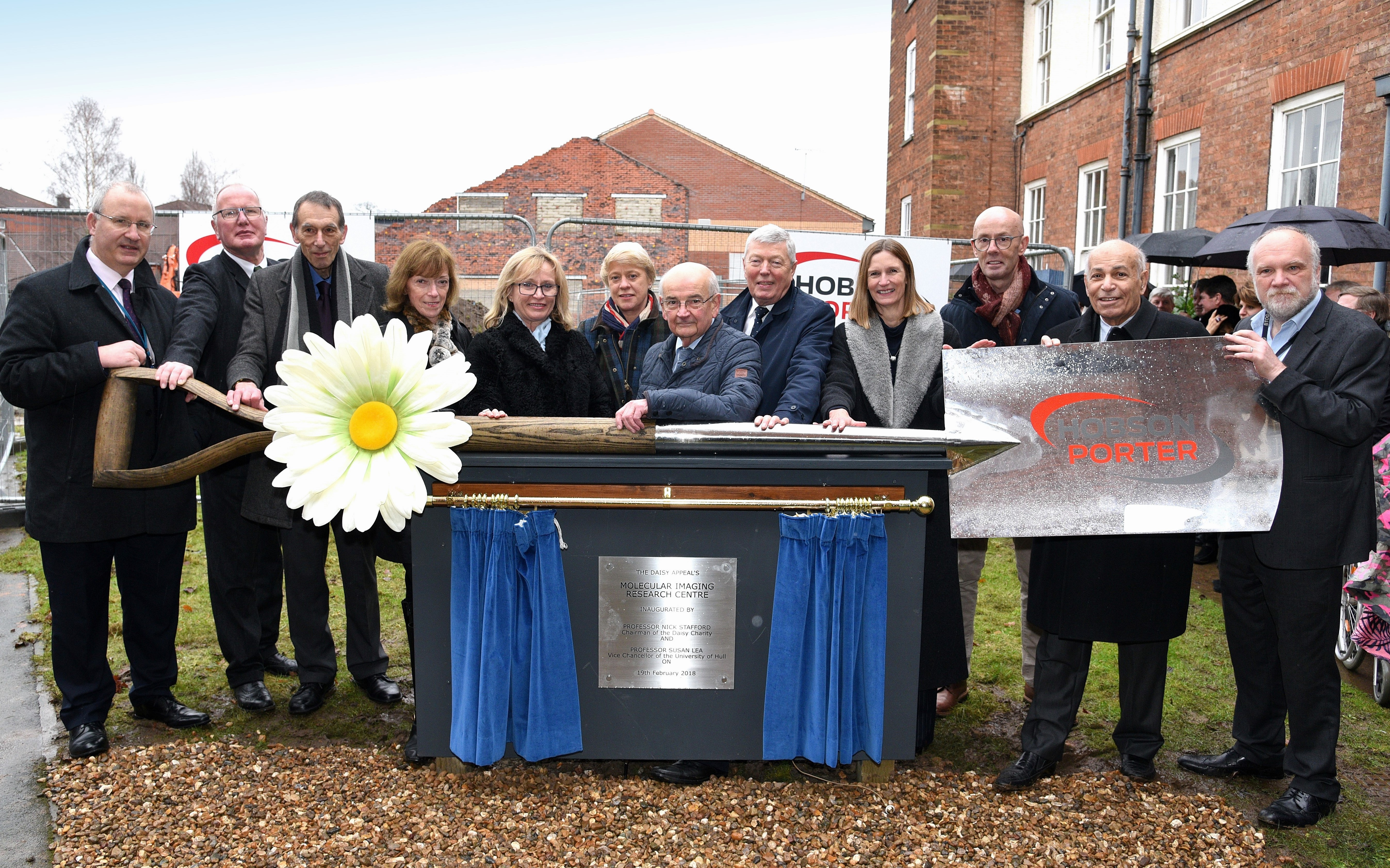 Daisy Appeal foundation stone pic