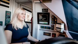 Emma Ramsden in one of Hull Trains  trains