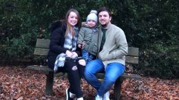 Lindsay and Mark with Ollie