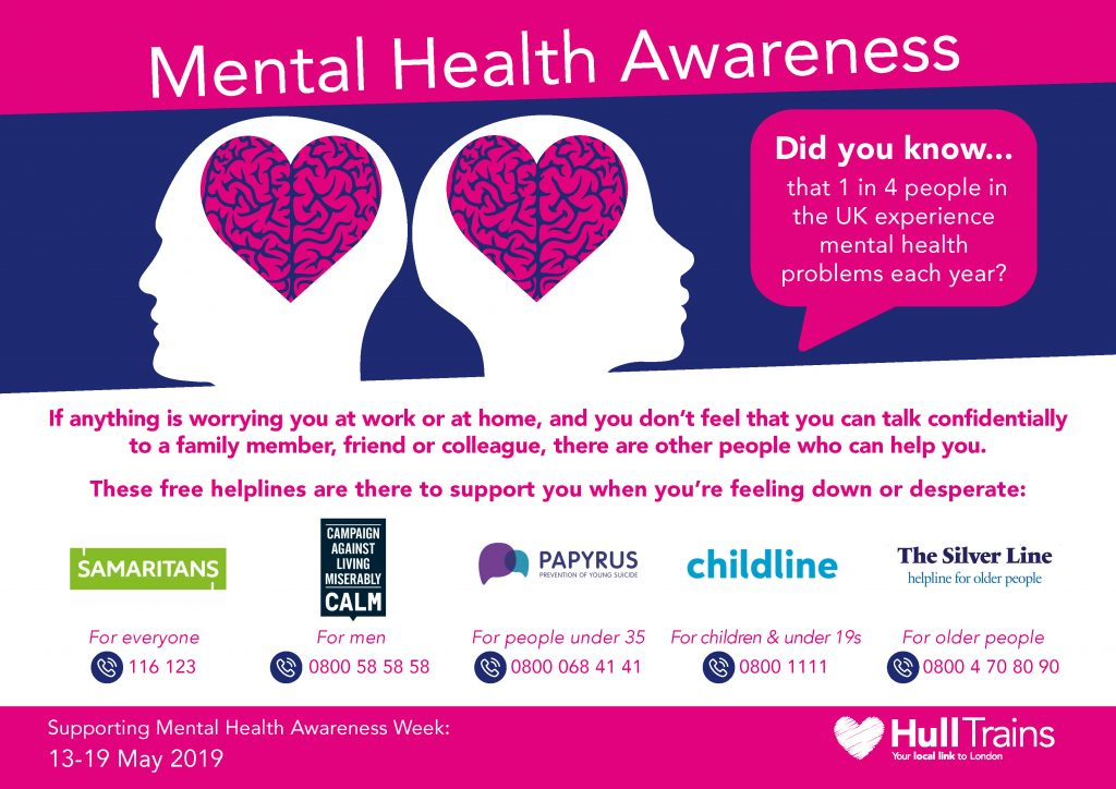 Hull Trains launches mental health campaign to support ...