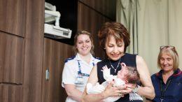 Fatima Allam with newborn baby Edie Lee small