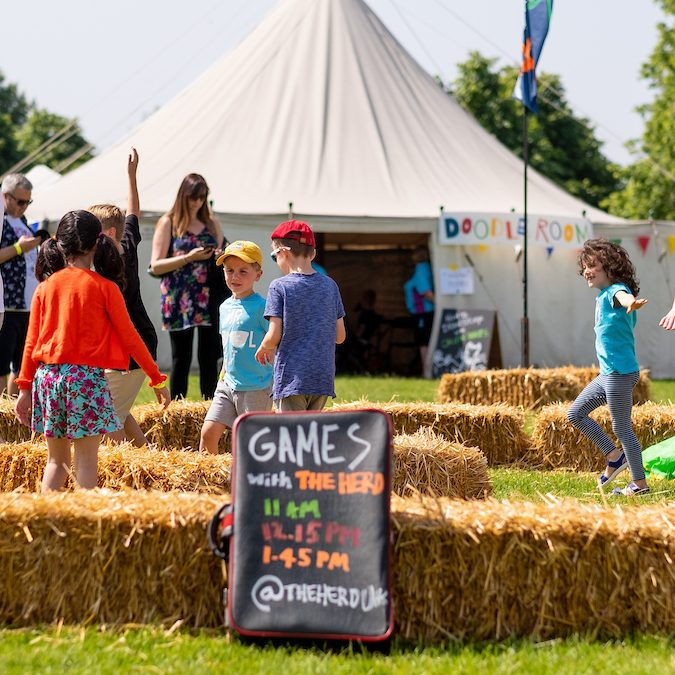 Games with The Herd at The Big Malarkey Festival  credt Jerome Whittingham @PhotoMoments