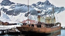 The Viola trawler laid up in Grytviken.