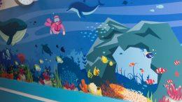 Diver wall art