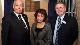 David Haire with Dr Assem Allam and Fatima Allam