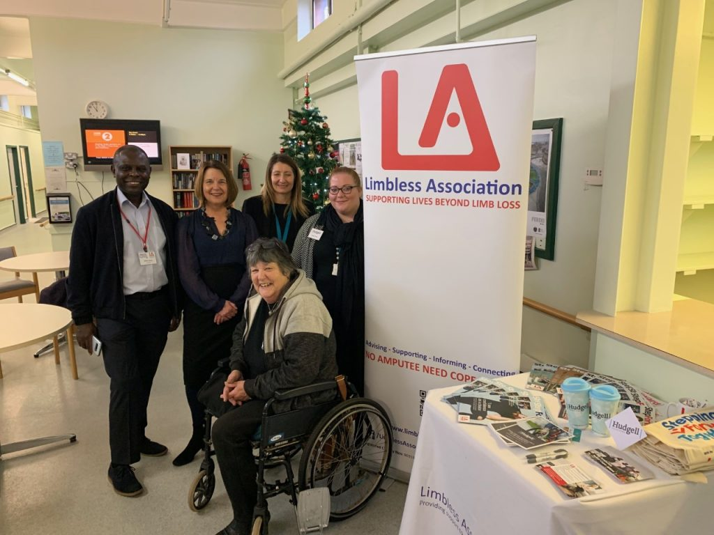Clifton Henry (LA Trustee), Deborah Bent (LA CEO), Pam Tyler (LA fundraising volunteer), Lauren Dale (Hudgell Solicitors) and Sarah Kidd (Hudgell Solicitors).