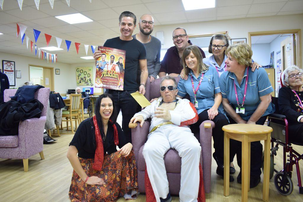 The cast of Aladdin visit Dove House Hospice