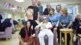 The cast of Aladdin visit Dove House Hospice