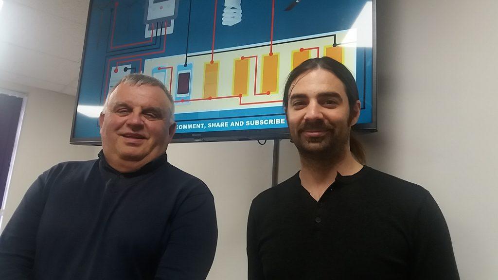 David Stuart (L) and Callum Young HTA directors