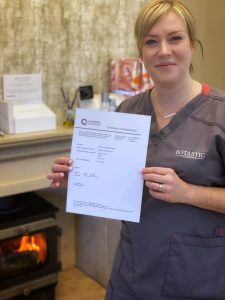 Eve Bird with CQC certificate