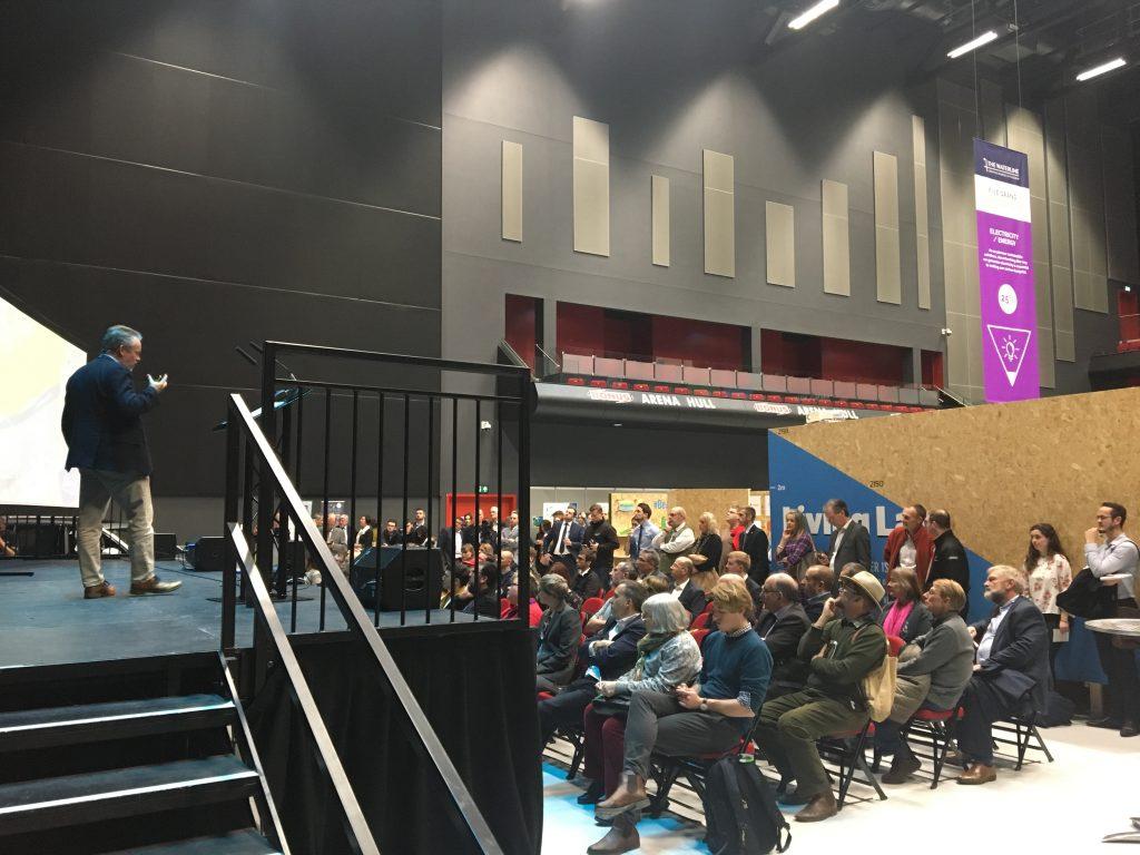 Lagoon Hull Project Director Paul Hatley addresses the Waterline Summit