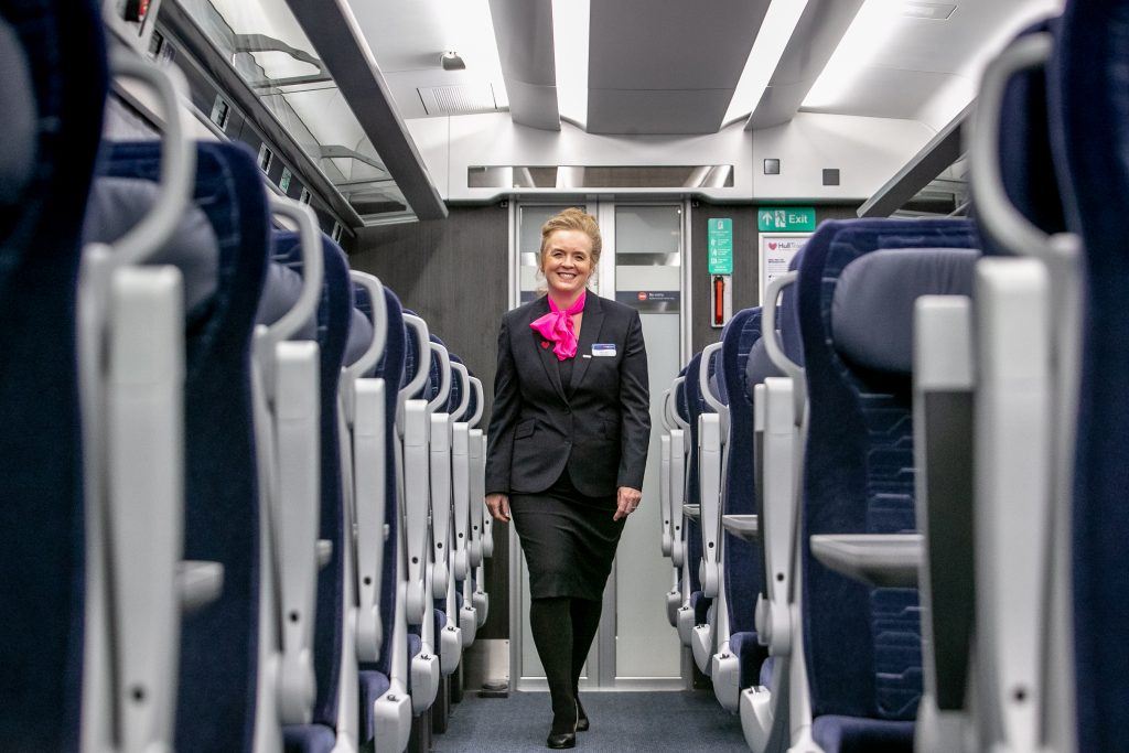 Paragon train makes first journey