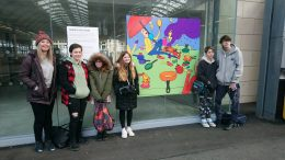 junior designers with a page from their street book about dyslexia