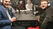John Gilbert, Rachel Bower, Matt Johnson, Matt Sutton - organisers of the podcast festival.