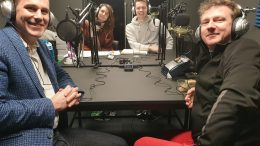John Gilbert, Rachel Bower, Matt Johnson, Matt Sutton - organisers of the podcast festival.