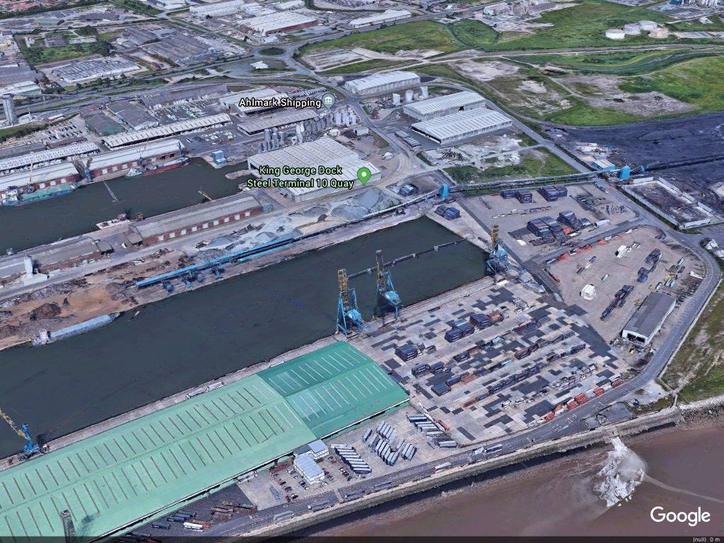 King George Docks, Hull. Photo: Google Earth.