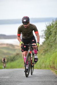 Ede Bone during an Ironman event in Wales.