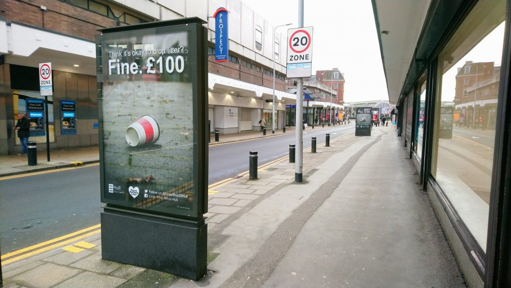 litter penalty fine poster