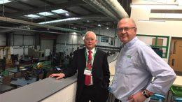 Paul Escreet (left) with Iain Elliott at HETA's workshops in Hull.