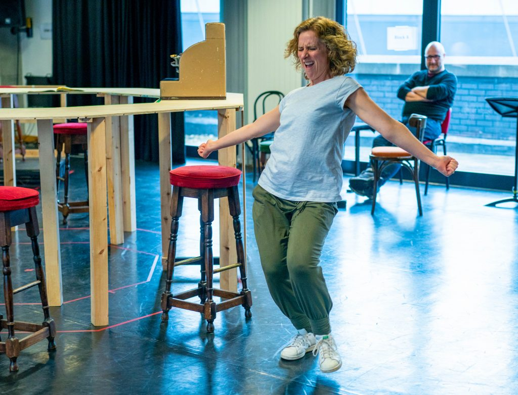 In rehearsals for TWO at Hull Truck theatre