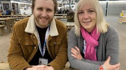 NHS Hull CCG Engagement Manager Matthew Fawcett and University of Hull Lecturer Gill Hughes