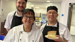 Martin Young, Pauline Higgins and Pete Spiers, all staff at The Orchard Community Cafe.