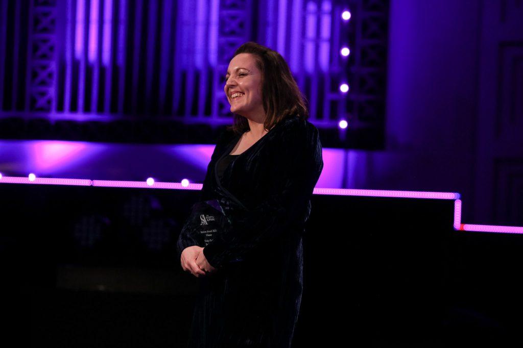 Vicky Foster at the BBC Audio Drama Awards.