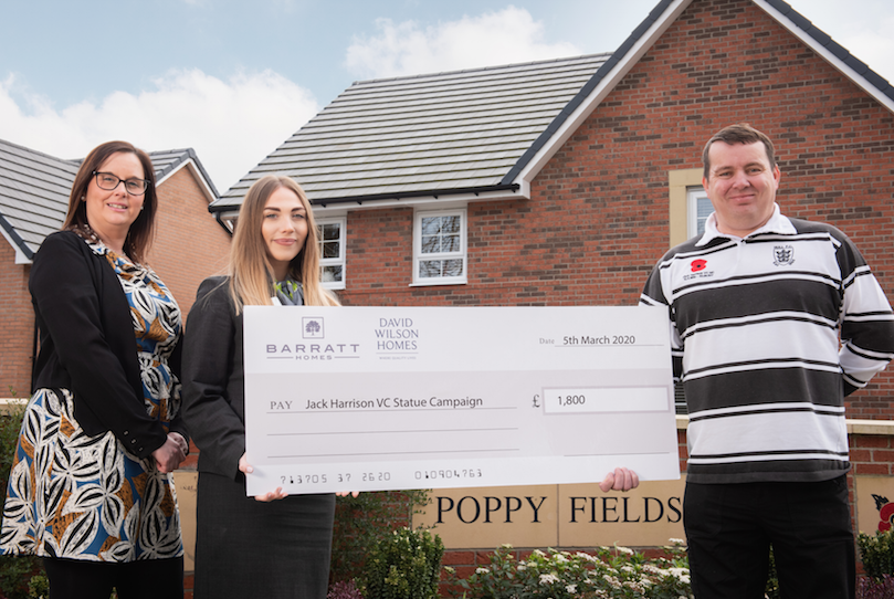 Local housebuilder contributes £1,800 to honour Hull hero, Jack Harrison