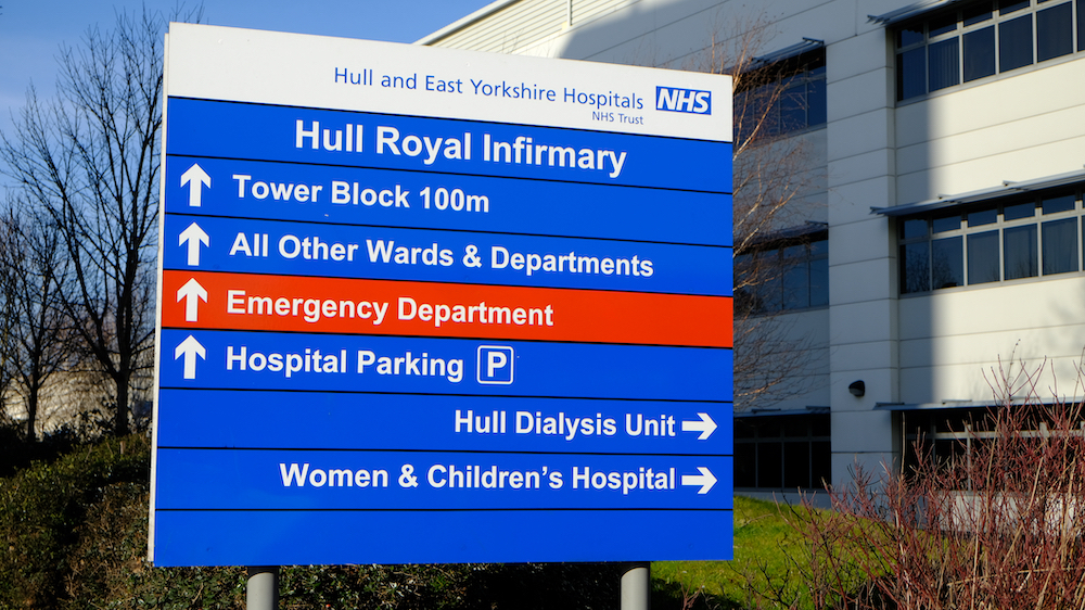Hull Royal Infirmary sign