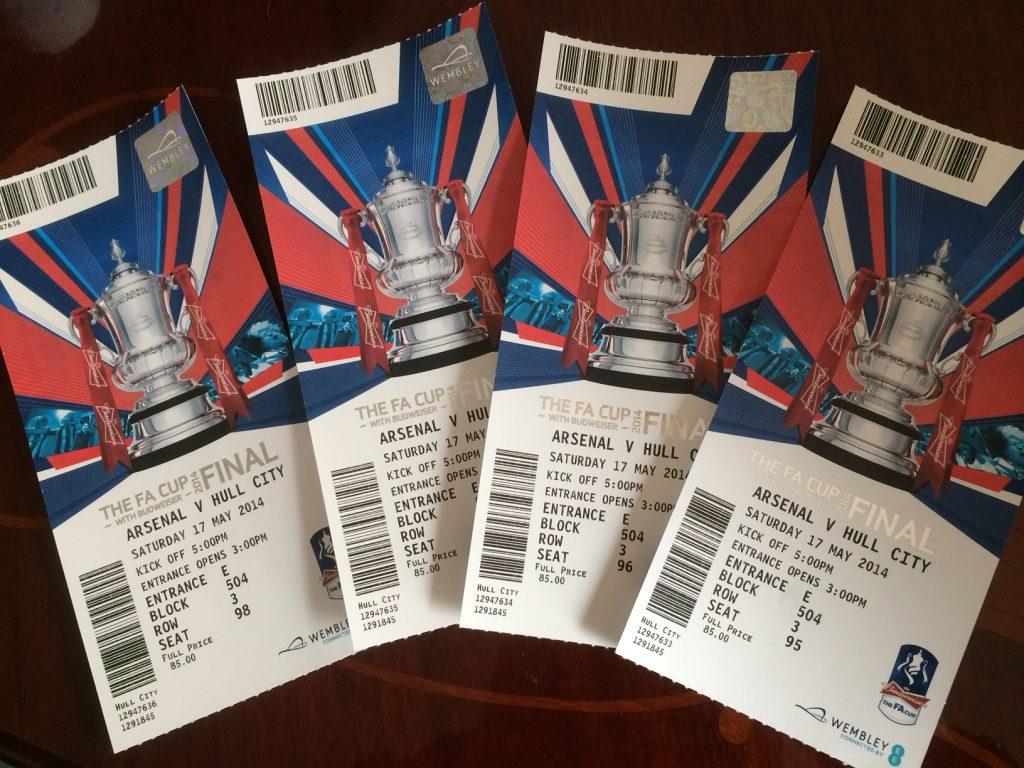 Arsenal v Hull City, Saturday 17 May 2014