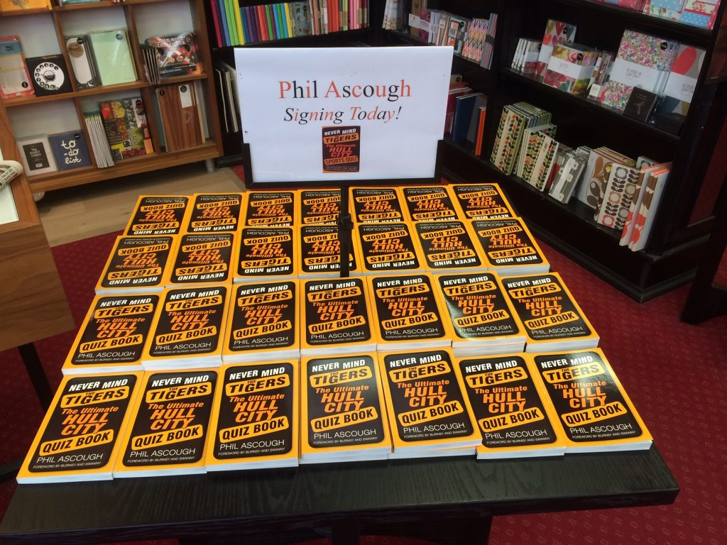 Never Mind The Tigers – The Ultimate Hull City Quiz book, is still available from The History Press