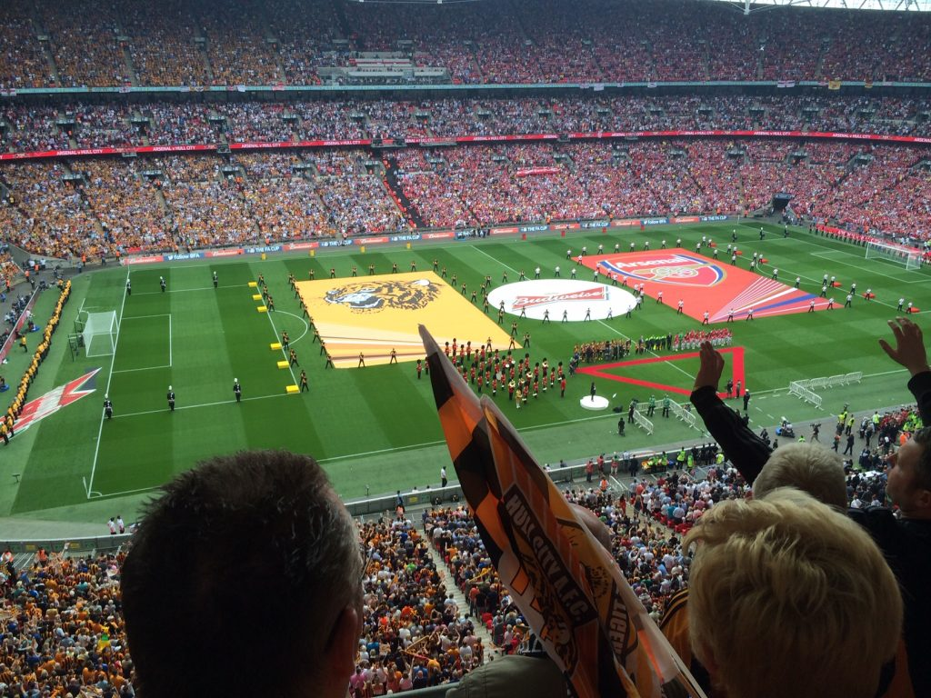 Wembley on cup final day