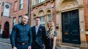 Pictured outside Danish Buildings and Bayles House are (from left) Paul Swallow of Allenby Commercial, Matt Lyndon of SAAF and Megan Stoner from Renots.