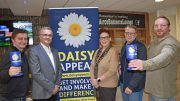 Pictured in the Airco business lounge with Claire Levy, Fundraiser at the Daisy Appeal, are (from left) Mathew Basford, Dean Hordon, Paul Willis and Andy Stubbs.