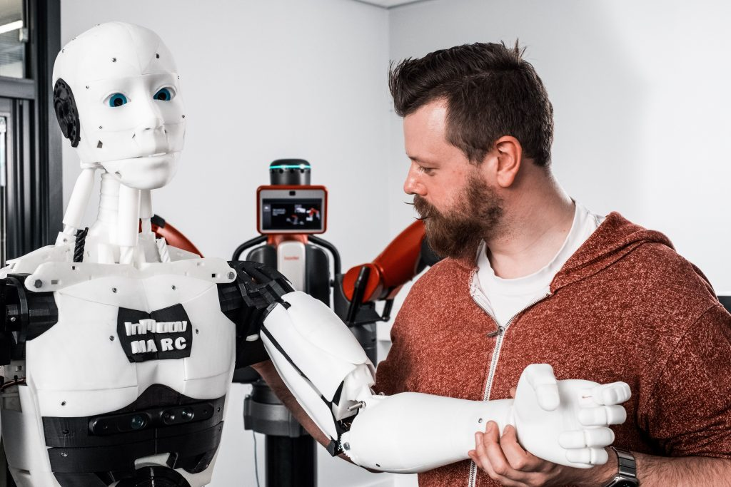 AI is technology which enables a computer to think or act in a more 'human' way