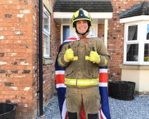 Antony Baines, a Firefighter at Humberside Fire and Rescue Service