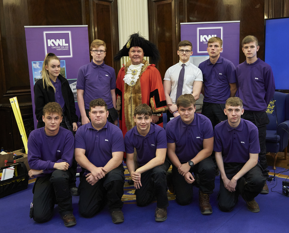 KWL apprentices meeting the Lord Mayor at The Guildhall
