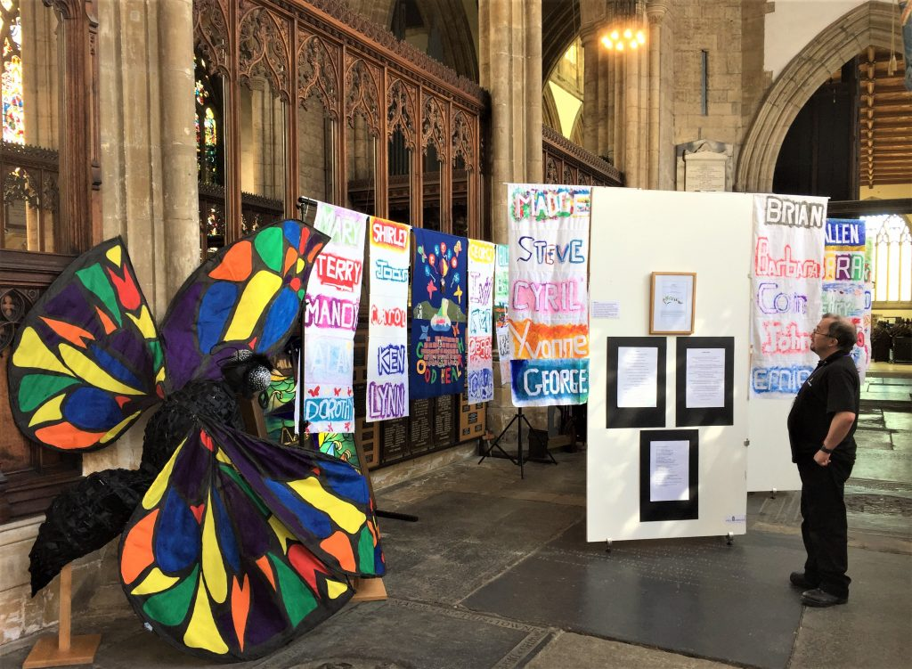 The Butterflies display in Hull Minster which was curtailed because of the coronavirus outbreak.