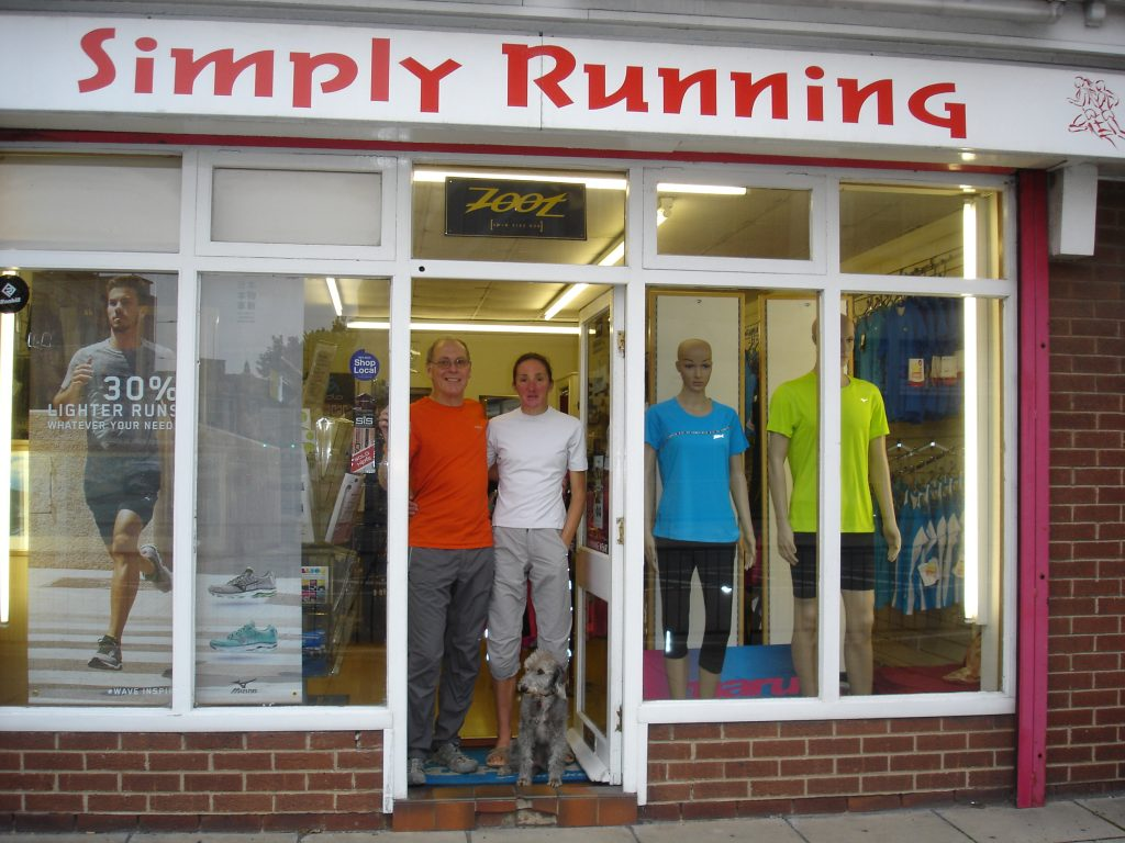 Kevin, Melanie and Maisie at Simply Running.