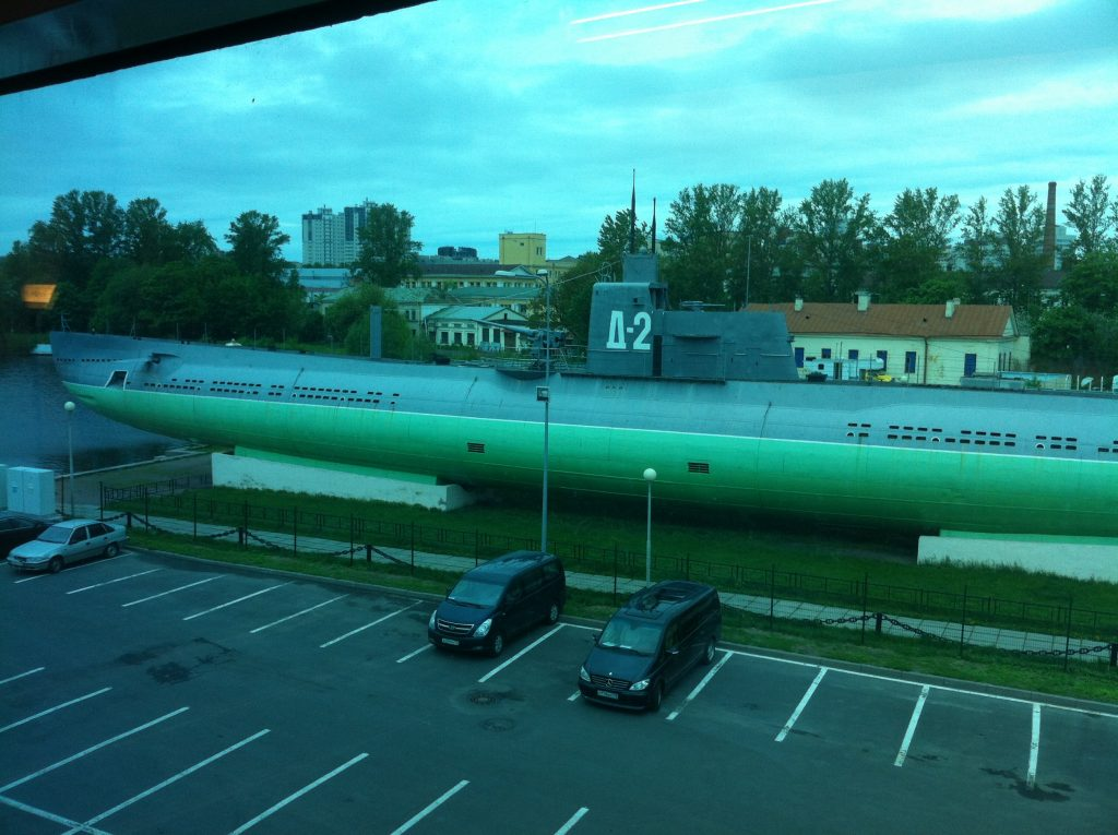 A Russian submarine.