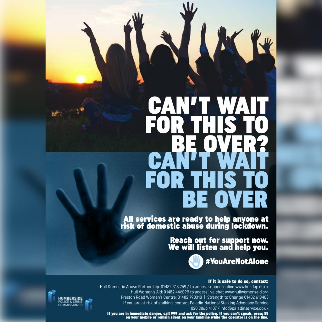 Poster: Can't Wait For This To Be Over – Lockdown is no excuse for abuse