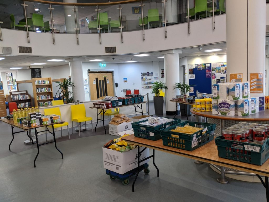 Freedom Centre Food Parcel sorting centre
