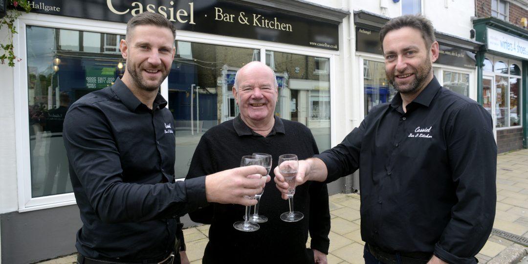 Chris Leahy, Terry Leahy and Simon Leahy.