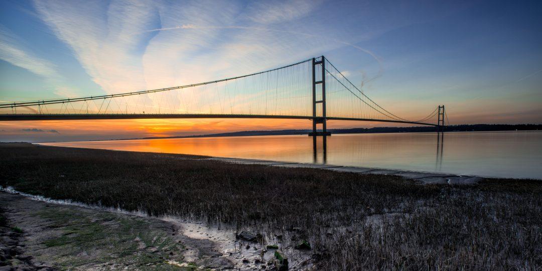 Humber Bridge and estuary