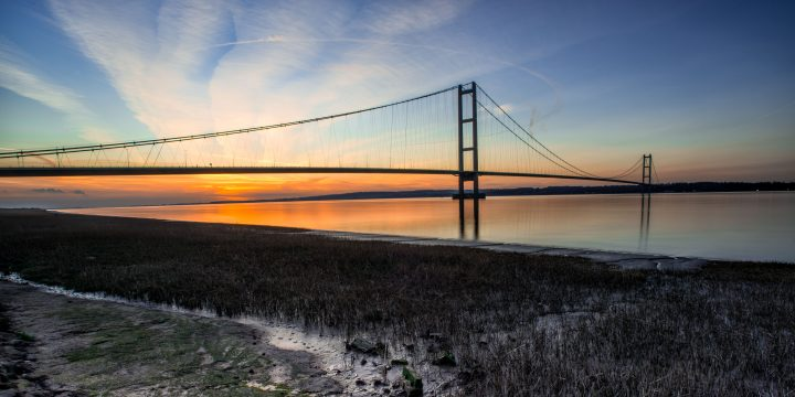 Humber Bridge and estuary