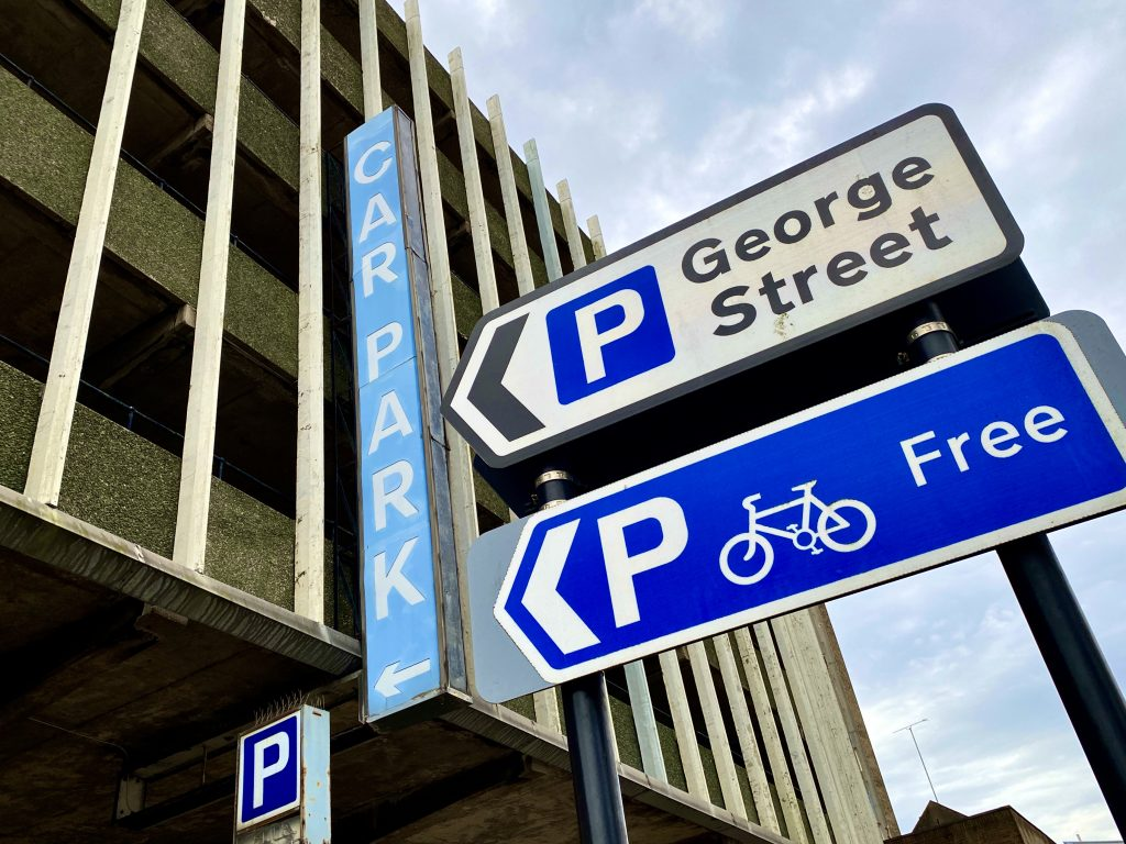 George Street multi-storey car park.