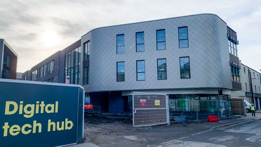 The new hub is a sister building for the existing Centre for Digital Innovation (C4DI) and is the latest major investment at Wykeland Group's @TheDock tech campus.