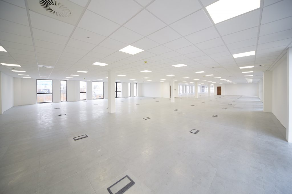 The new C4DI building features Grade A office space for digital businesses, with suites available ranging in size from 200 sq ft to 17,500 sq ft.