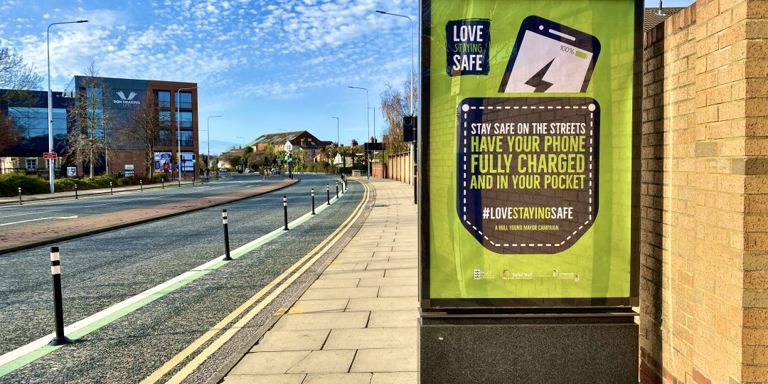 love staying safe campaign poster